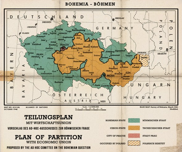 Bohemian Partition map