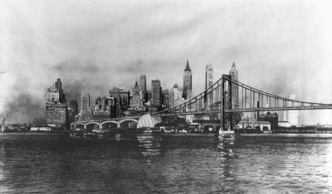 New York Brooklyn Battery Bridge design