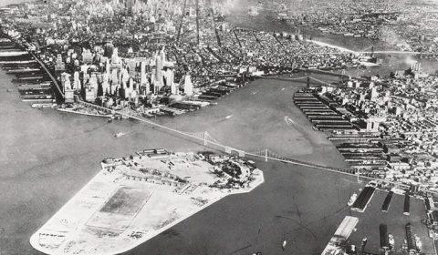 New York Brooklyn Battery Bridge model