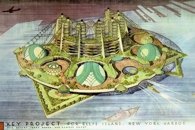 New York Ellis Island design by Frank Lloyd Wright