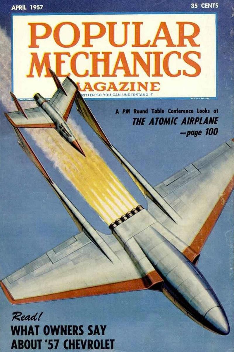 Popular Mechanics April 1957 cover