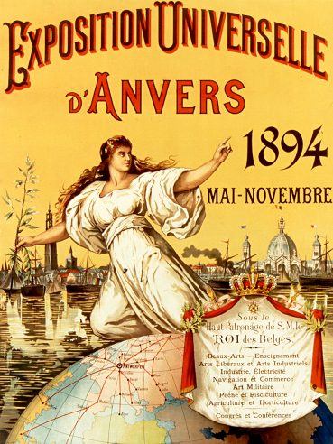 1894 World's Fair Antwerp poster