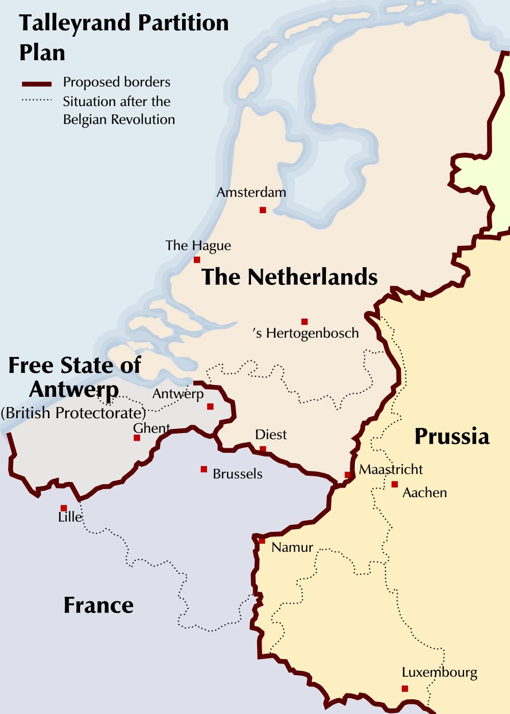 Belgium partition map