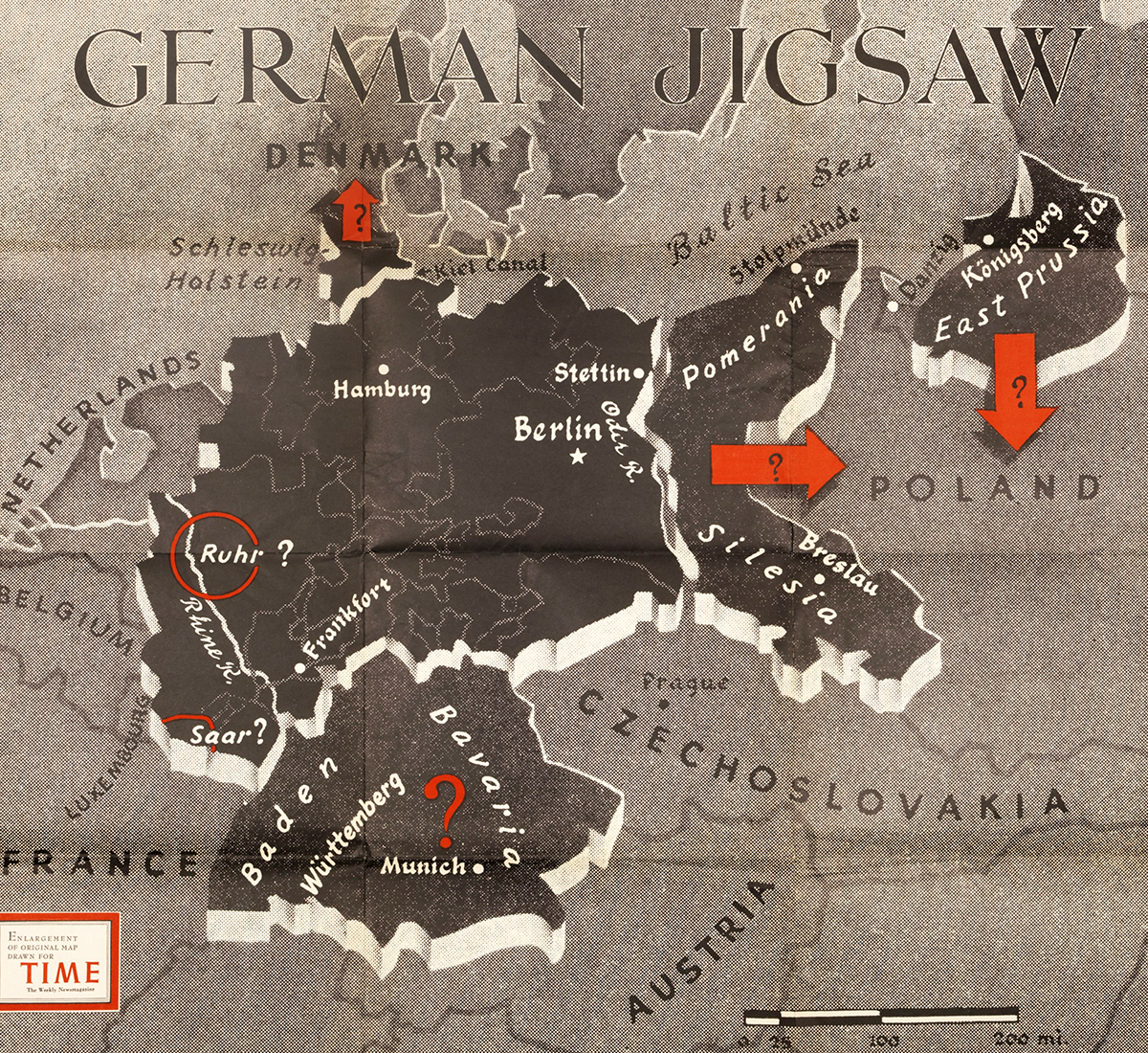 1944 Germany map