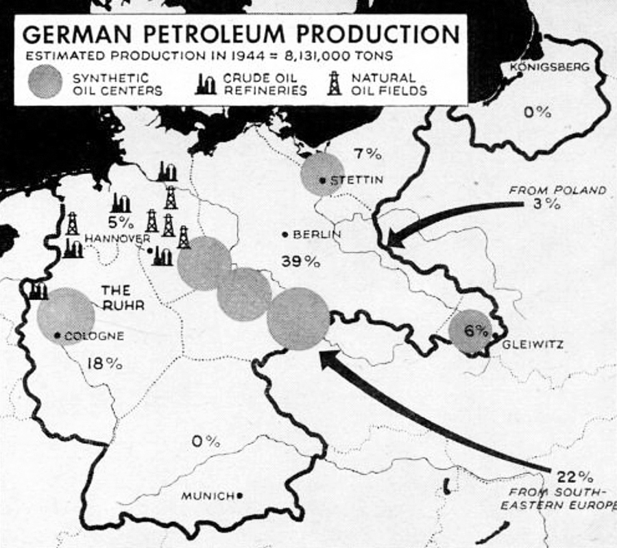 Germany petroleum production map