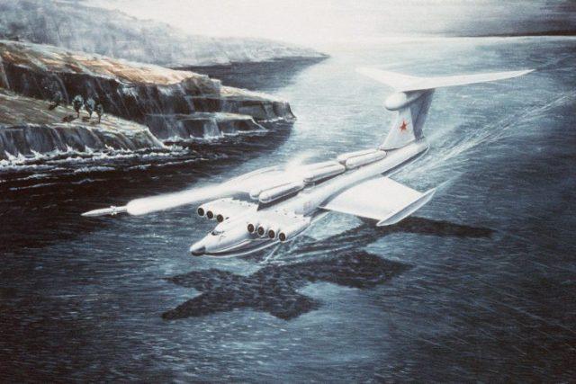 Lun-class ekranoplan artwork