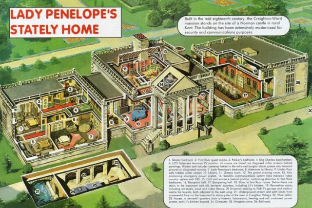 Thunderbirds Lady Penelope home cutaway