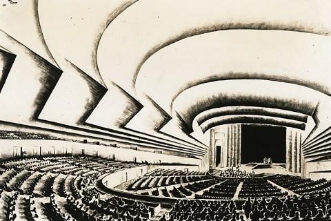 Norman Bel Geddes Ukrainian State Theater design