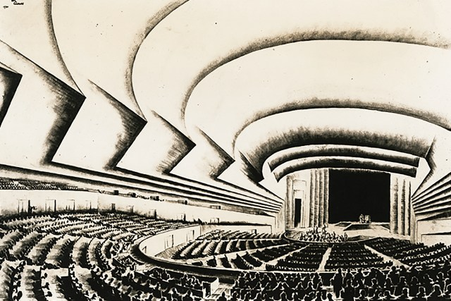 Norman Bel Geddes Ukrainian State Theater design