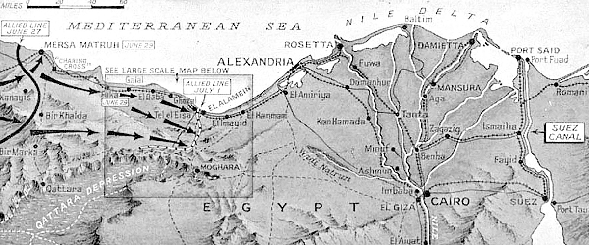 1942 North Africa map