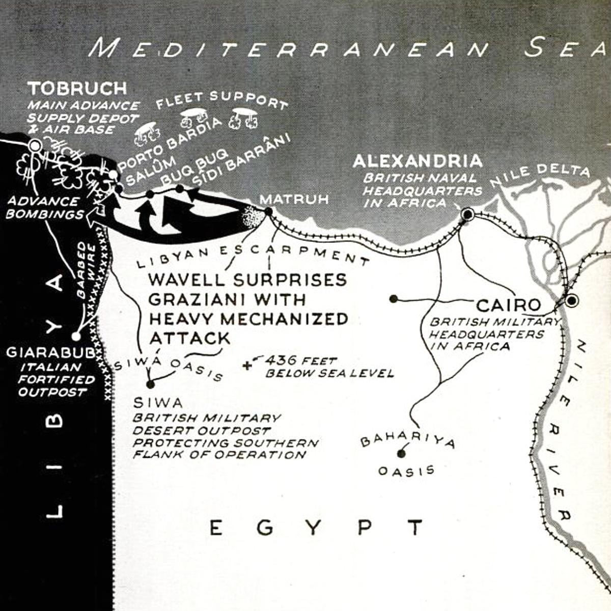 British invasion Libya map