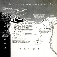 British invasion Libya map