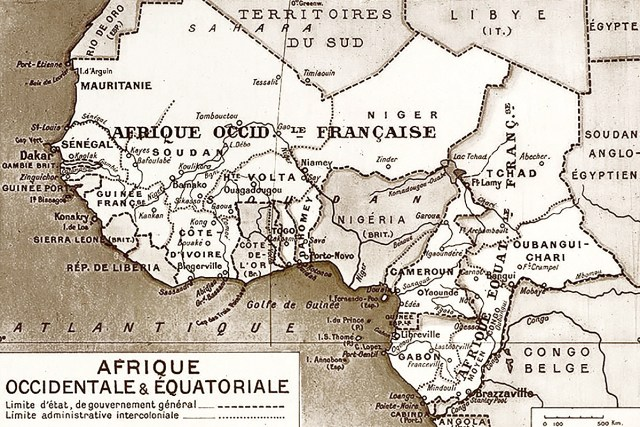 French West Africa map
