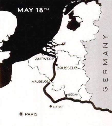 German invasion Netherlands map