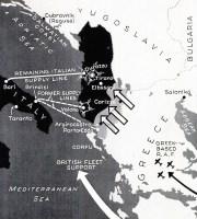 Greek invasion Albania map