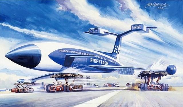 Thunderbirds Fireflash art