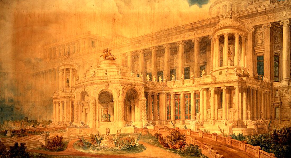 Imperial Palace for Sovereigns of the British Empire painting