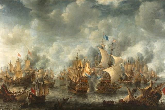 Battle of Ter Heijde painting