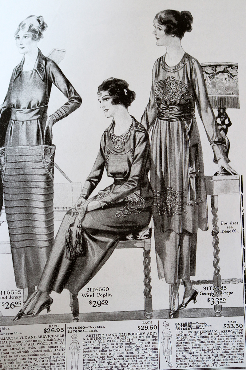 Everyday Fashions, 1909-1920, as Pictured in Sears Catalogs page