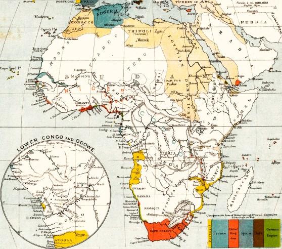1884 Africa map