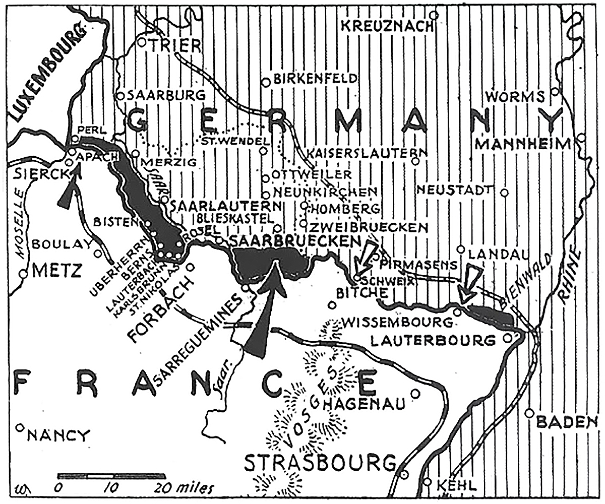 France Saar Offensive map