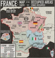 France occupied areas map