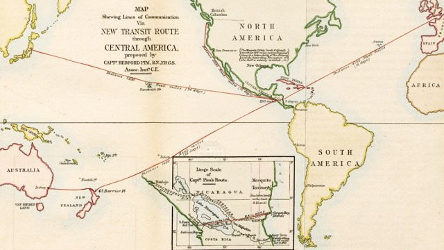 New Transit Route through Central America map