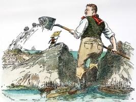 Theodore Roosevelt Panama Canal cartoon