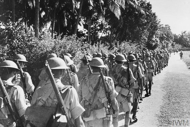 Indian soldiers in Malaya