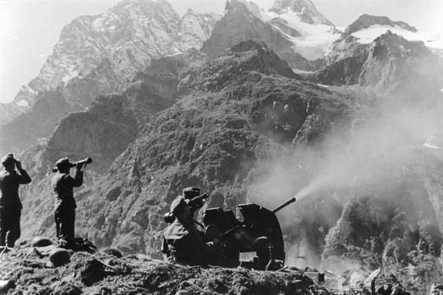 German soldiers in the Caucasus