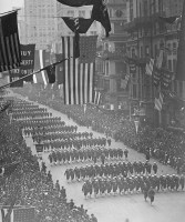 American soldiers parade New York