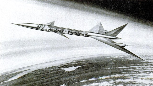 Supersonic jet illustration