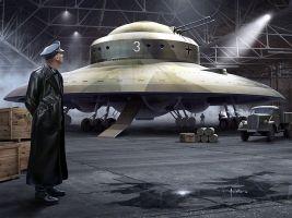 Squadron Models Haunebu II flying saucer art