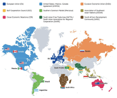 World trade blocs map