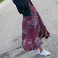Floral Dress for Fall: Taking it from Day to Night