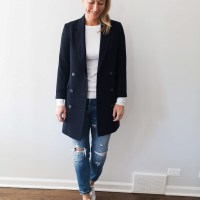 Series: Outfit of the Day - The Perfect Long Navy Blazer