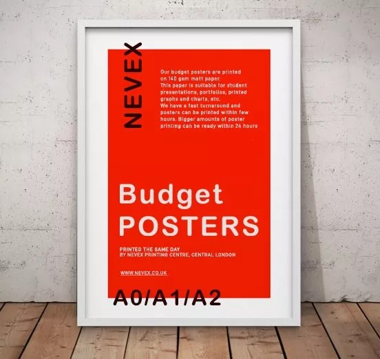 budget posters london nevex printing