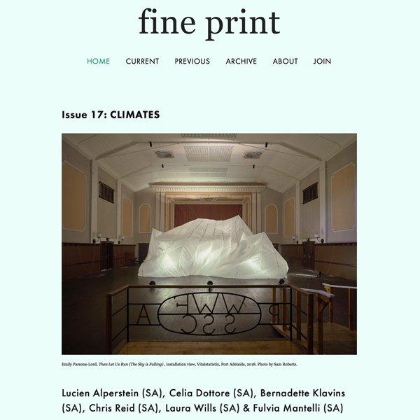 Fine print magazine Issue 17 Climates