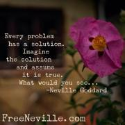 What is The Solution by Neville Goddard