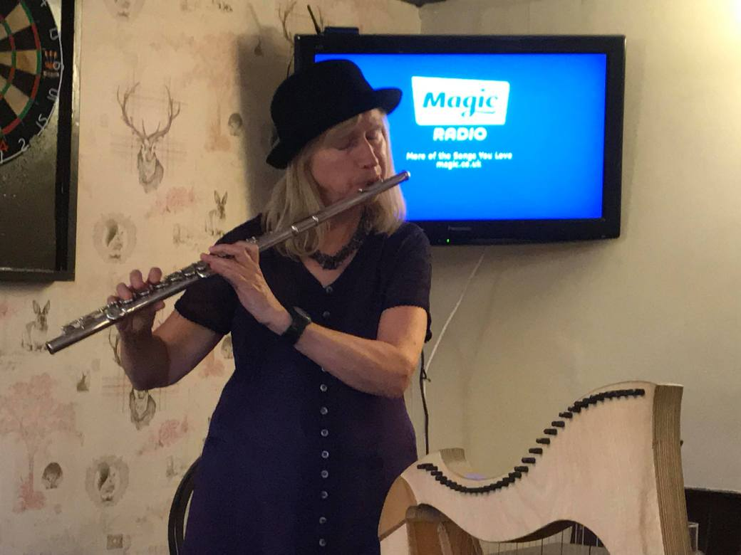Flute and hat