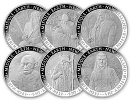 510229 B 2012 The Hobbit - An Unexpected Journey 6 Coin Silver Proof Set 0