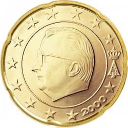 """Монета """"Бельгия - 20 евроцентов (1999-2007)"""""""