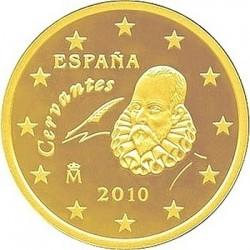 """Монета """"Испания - 10 евроцентов (2010)"""""""