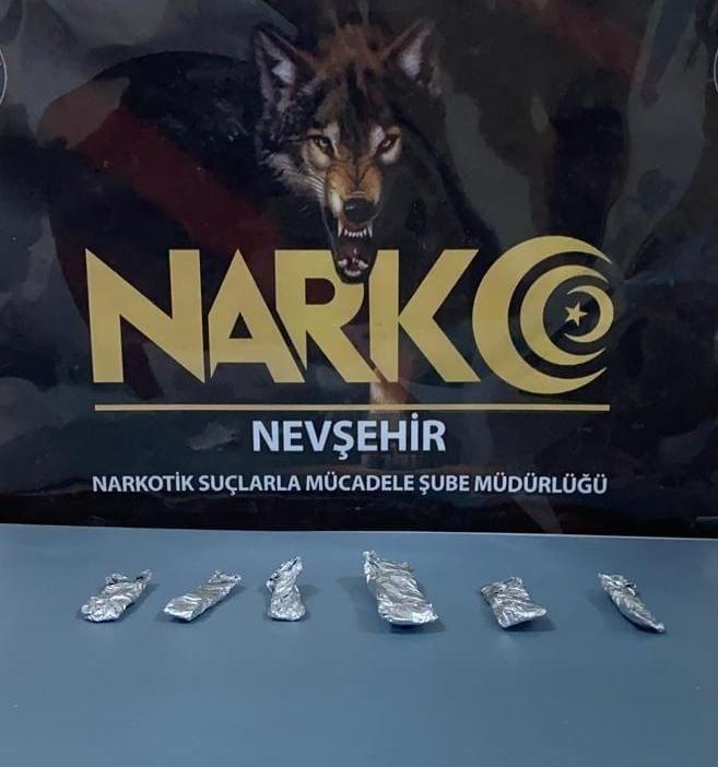 Nevşehir'de uyuşturucudan 1 şüpheli yakalandı