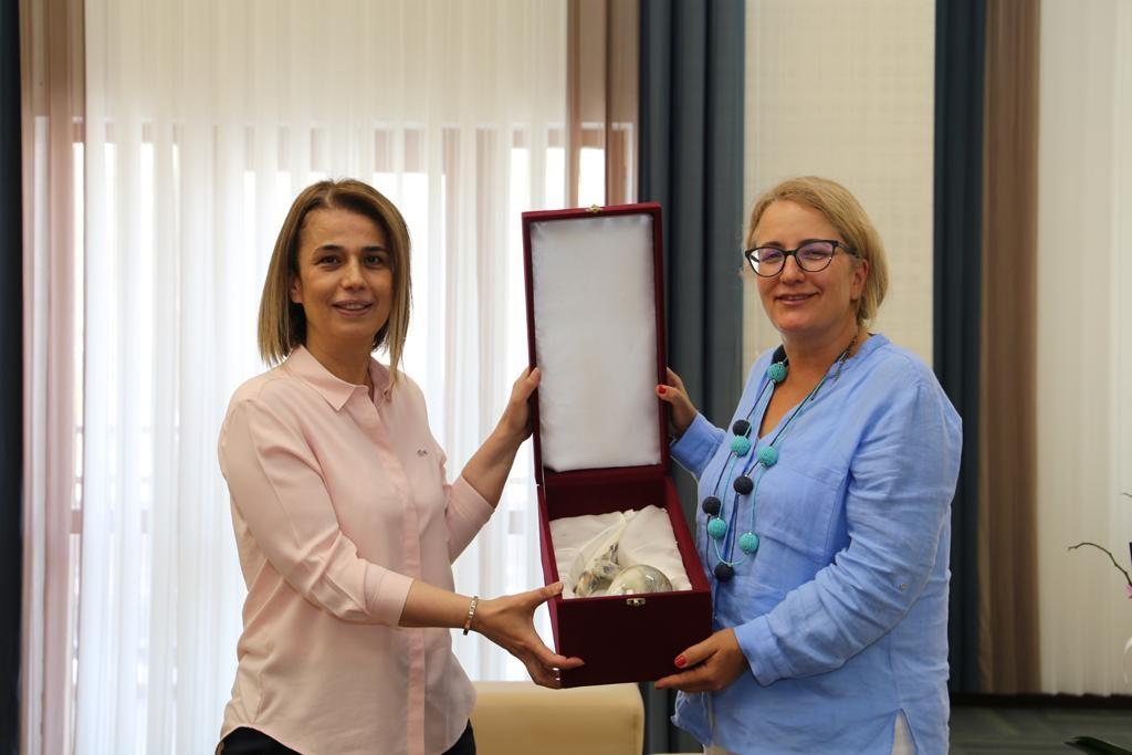 Türkiye'nin Tiflis Büyükelçisi Yazgan, Vali Becel'i ziyaret etti