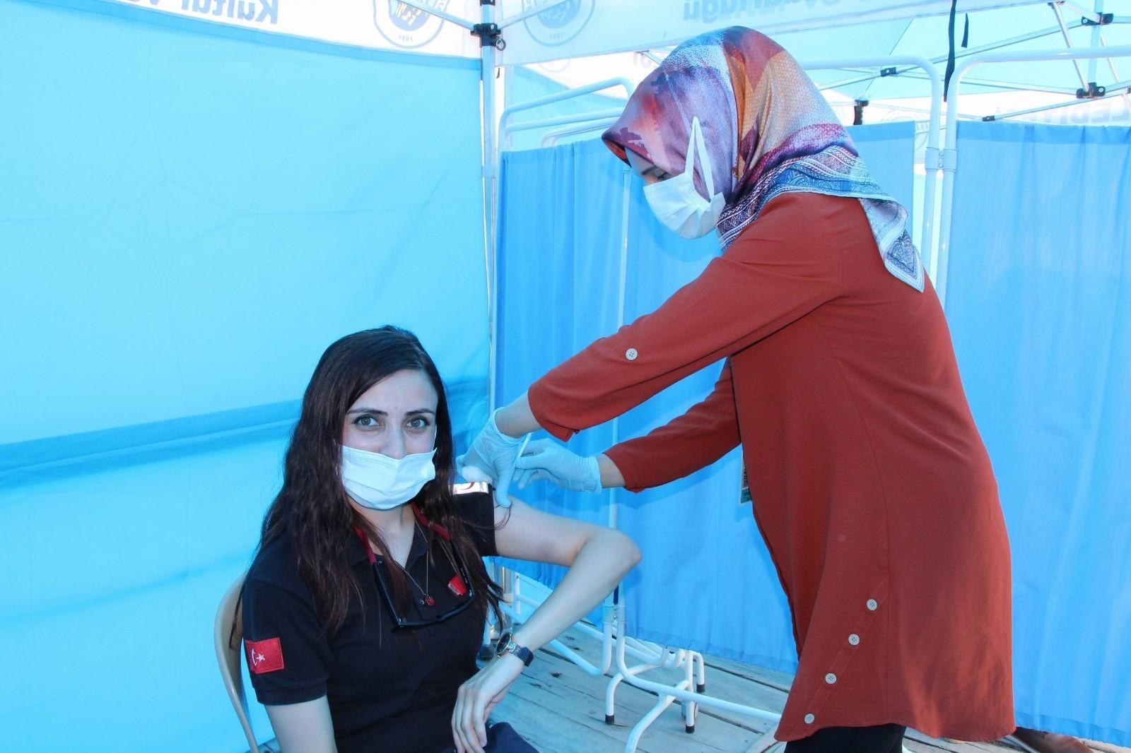 Nevşehir'de 219 bin 219 doz aşı yapıldı