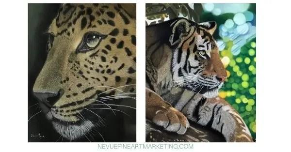 wildlife pastel paintings