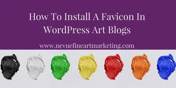 wordpress art blog - Nevue Fine Art Marketing