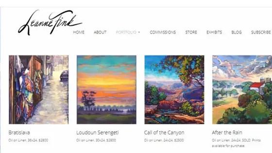 artists portfolio - Nevue Fine Art Marketing