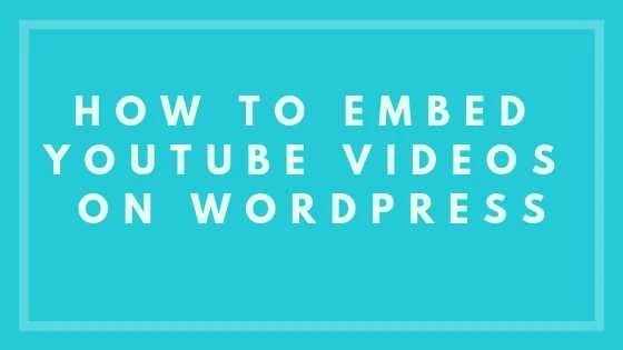 How To Embed YouTube Videos On WordPress